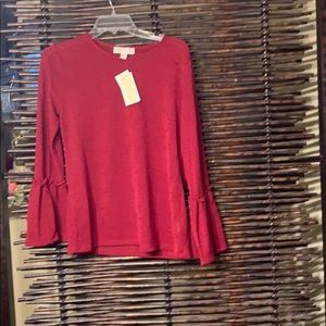Michael for Michael Kors NWT maroon size large